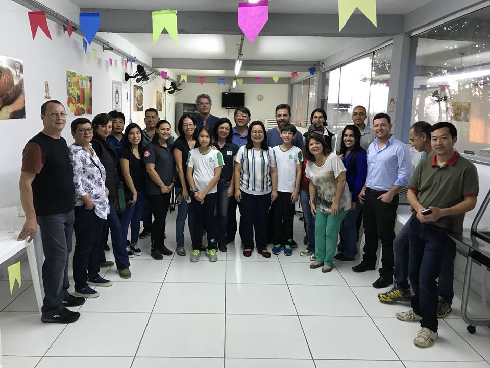 """ungicultores da Região de Sorocaba- SP e proprietários da Empresa Yuri Cogumelos que participaram da palestra intitulada """"Cogumelos comestíveis da Amazônia: da floresta à mesa"""" realizada no dia 22 de junho de 2017."""