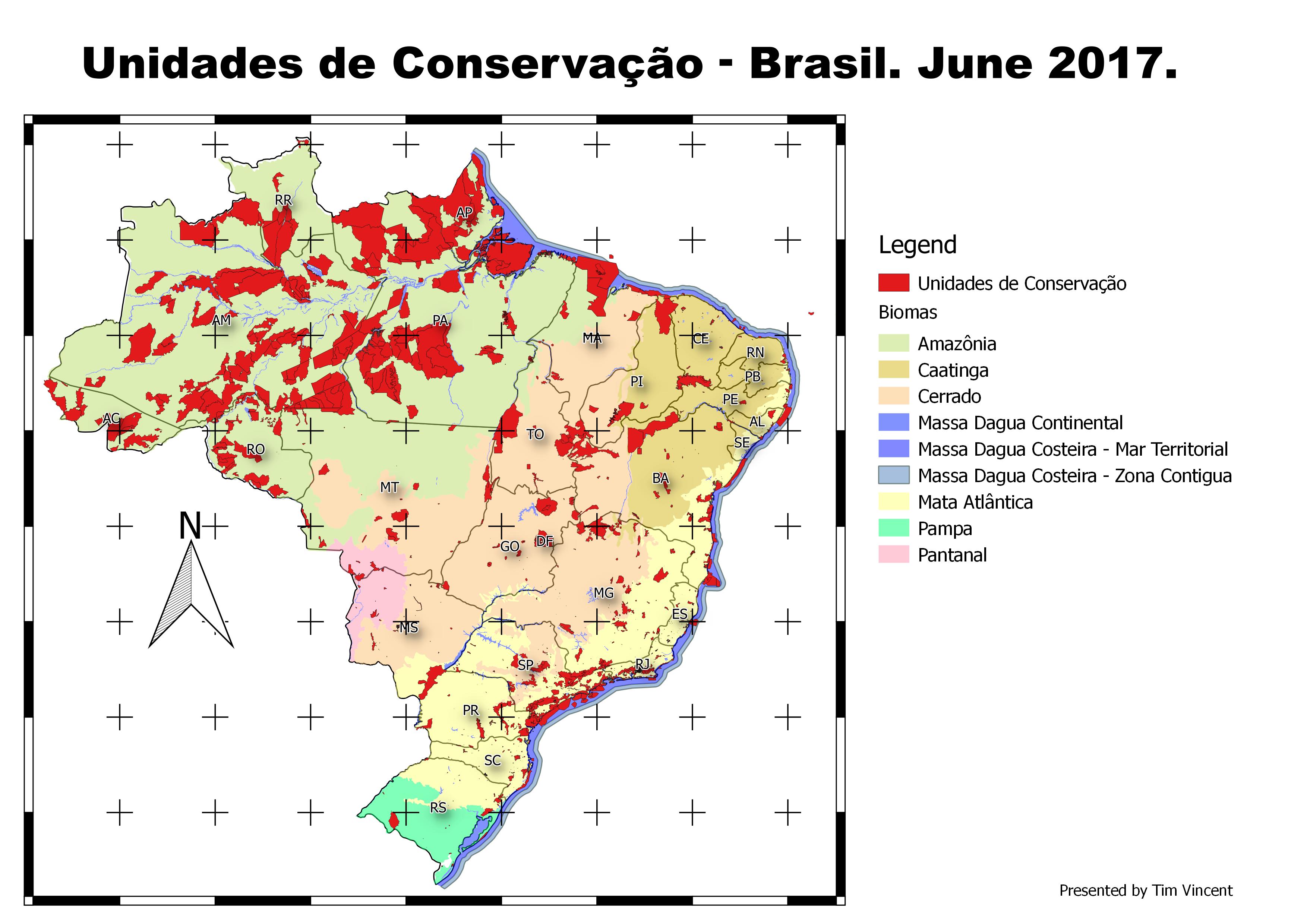 Unidades de Conservação Brasil 2017