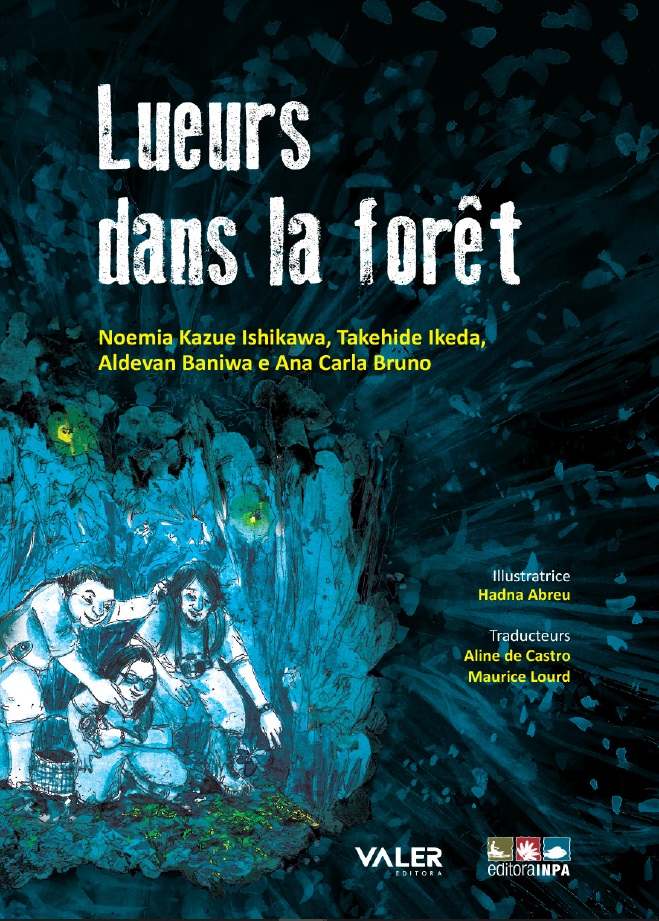 Front page and link to French version of Lights in the Forest
