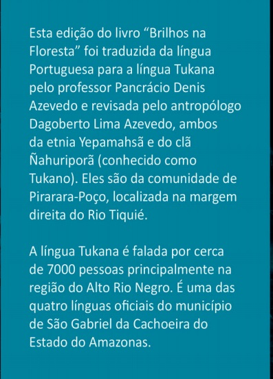 Back page Tukana version of Brilhos