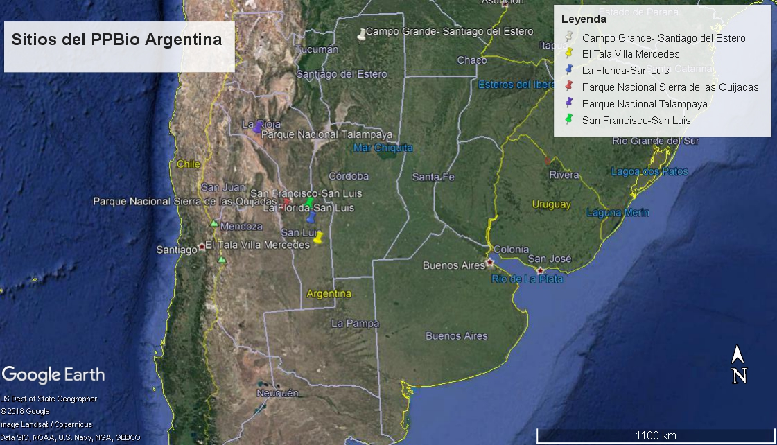 Sitios del PPBio Argentina